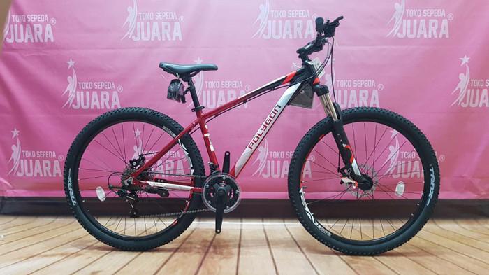 harga Sepeda polygon cascade 2.0 black red mtb 275 inci alloy frame bike Tokopedia.com