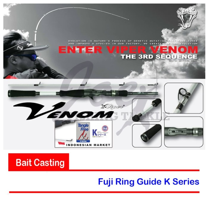 harga Viper venom vv602mlb 6-14lb rod bait casting - joran pancing bc Tokopedia.com