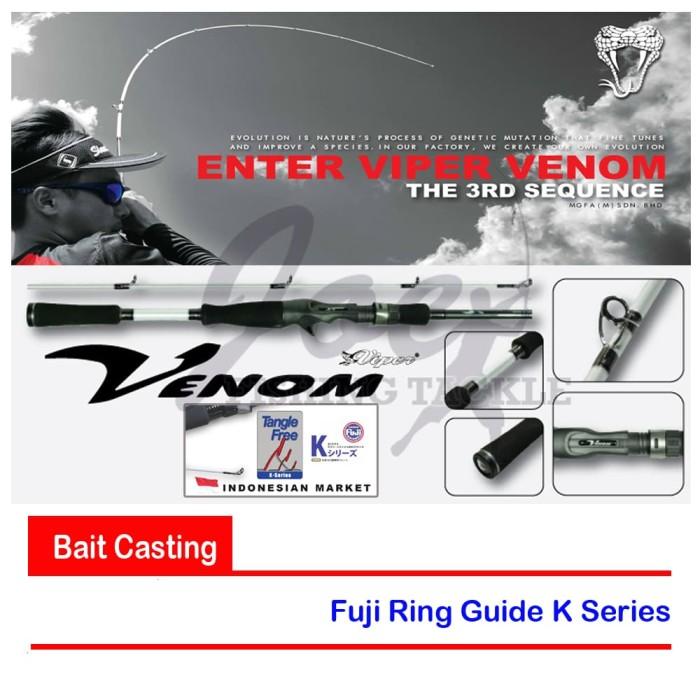 harga Viper venom vv602mb 8-17lb rod bait casting - joran pancing bc Tokopedia.com