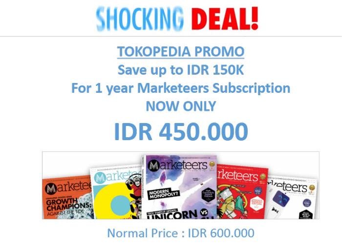 harga Shocking deal marketeers subscription Tokopedia.com