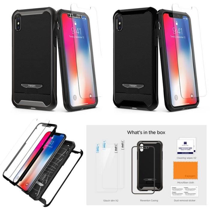 newest 87310 54795 Jual Spigen Reventon Case iPhone X With tempered Glass - Kota Tangerang -  Townonline | Tokopedia