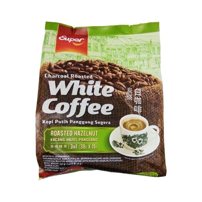 SUPER Charcoal Roasted White Coffee 3 in 1 HAZELNUT 540 Gr