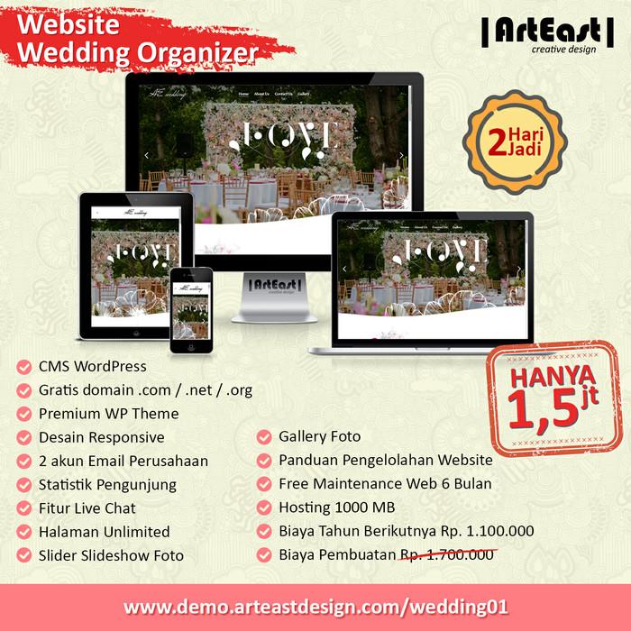Jual Website Wedding Organizer Kota Surabaya Arteast Custom Design Tokopedia