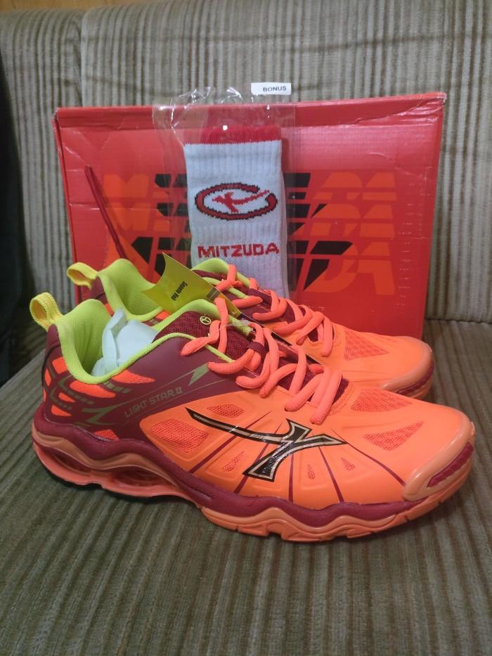 Sepatu voli volley mitzuda light star ii 2 orange merah original 35538c0d3a