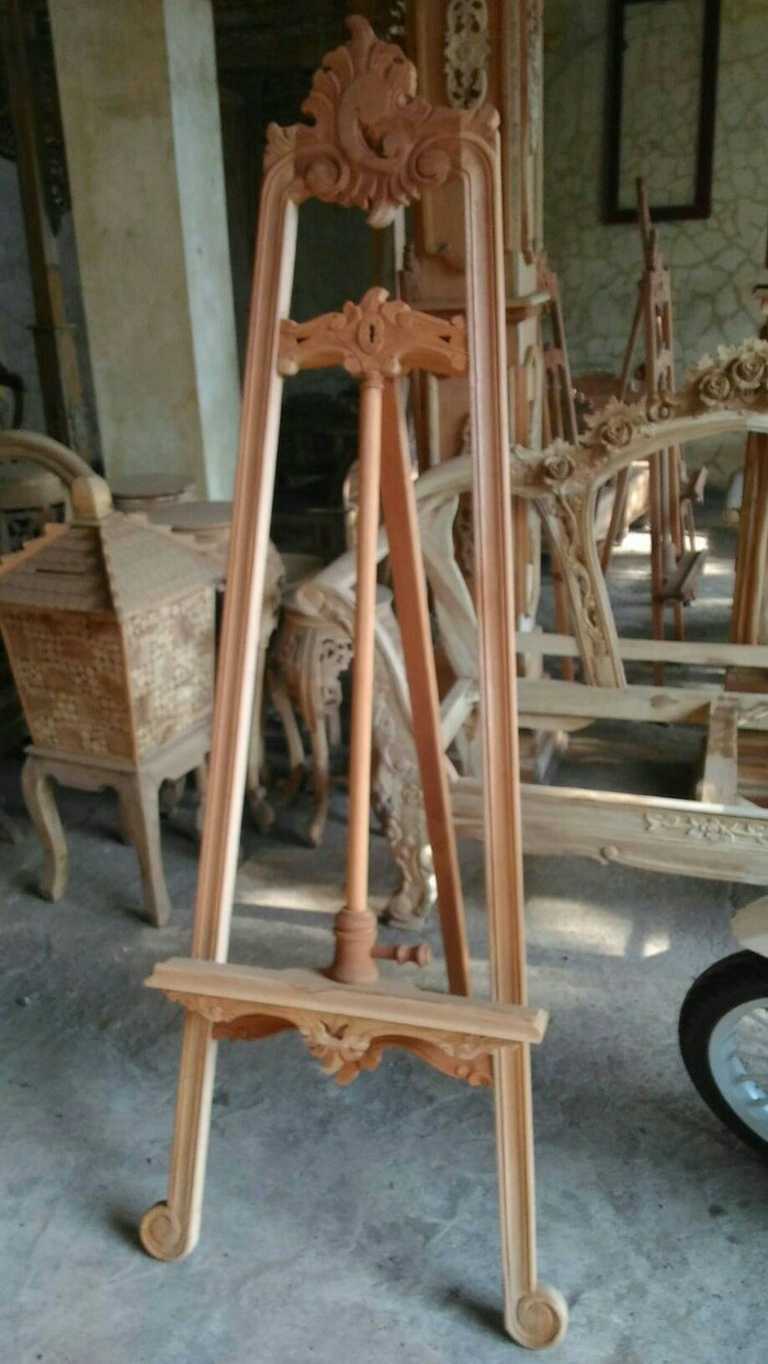 harga Wooden standing frame easel photo stand kayu mahoni mentah Tokopedia.com