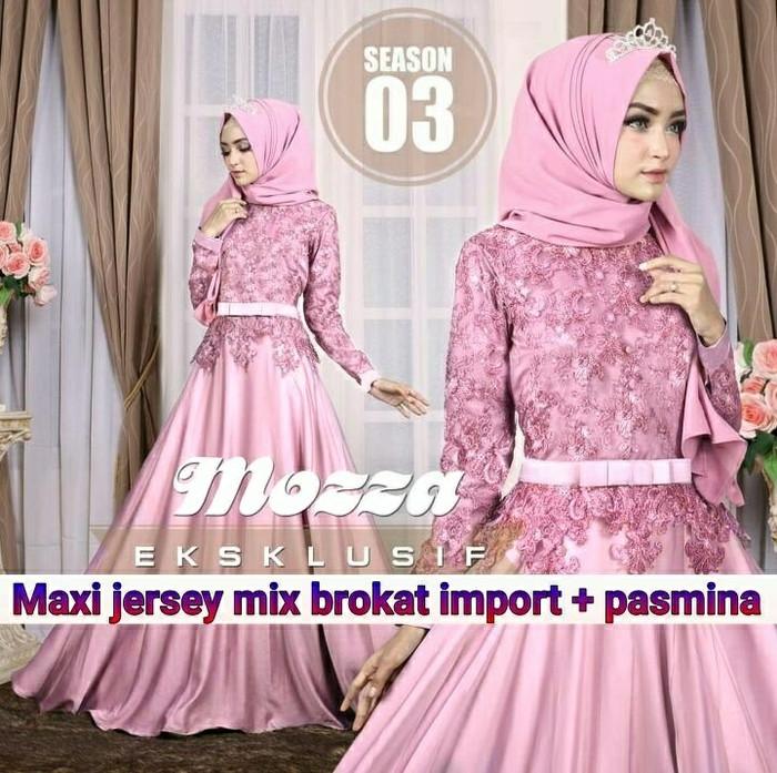 Jual Kebaya Baju Muslim Wanita Mozza All Varian Biru Muda Hexa Fashion Shop Tokopedia