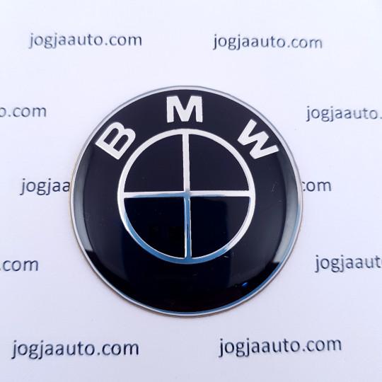 Foto Produk Emblem Stir BMW Full Black Hitam 45mm dari jogjaauto