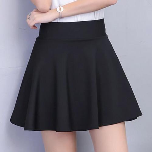CELANA ROK MINI SPAN WANITA POCKET IMPORT COKLAT Lovely flare skirt 805 mini .