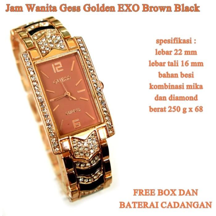 jam tangan qnq super transparan Romawi EXO BROWN BLACK