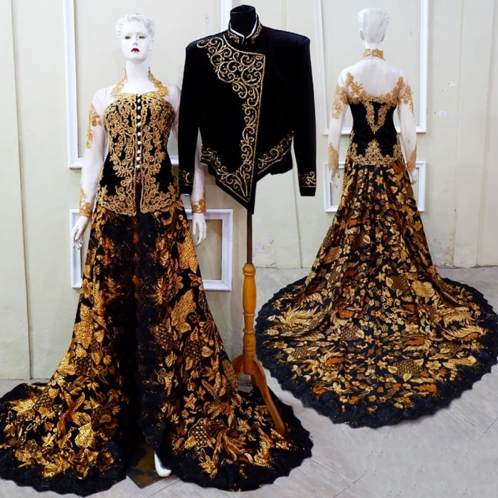 Jual Ready Kebaya Pengantin Bludru Couple Ekor Prada List Cornelly Hitam Kota Surakarta My Kebaya Boutique Tokopedia