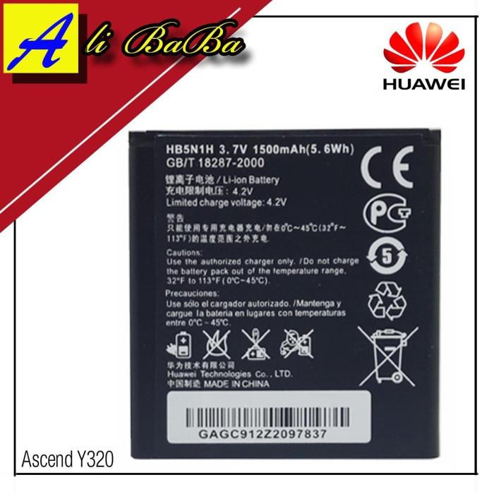 harga Baterai handphone huawei ascend y320 m660 u30 y330 y325 u885 hb5n1h Tokopedia.com