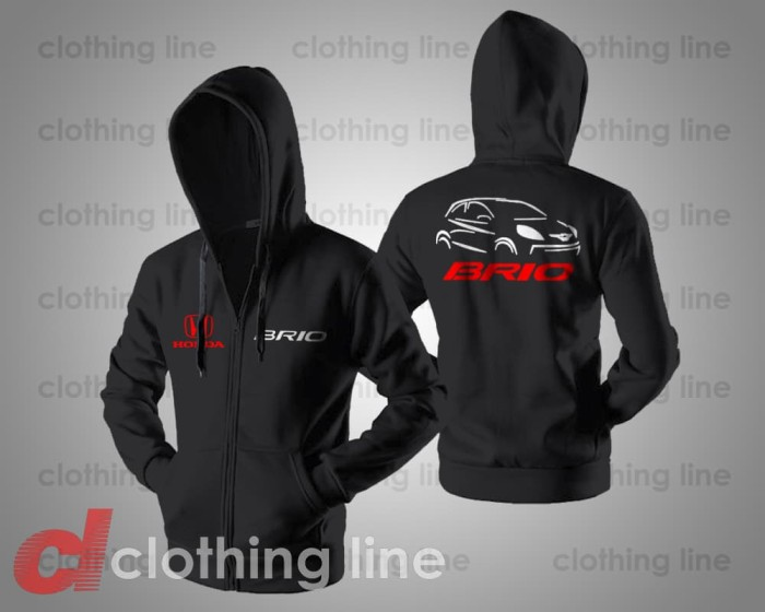 harga Hoodie zipper jaket sweater mobil honda brio logo Tokopedia.com