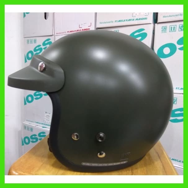 harga Helm cargloss hijau green army dof (helm retro / helm classic) Tokopedia.com