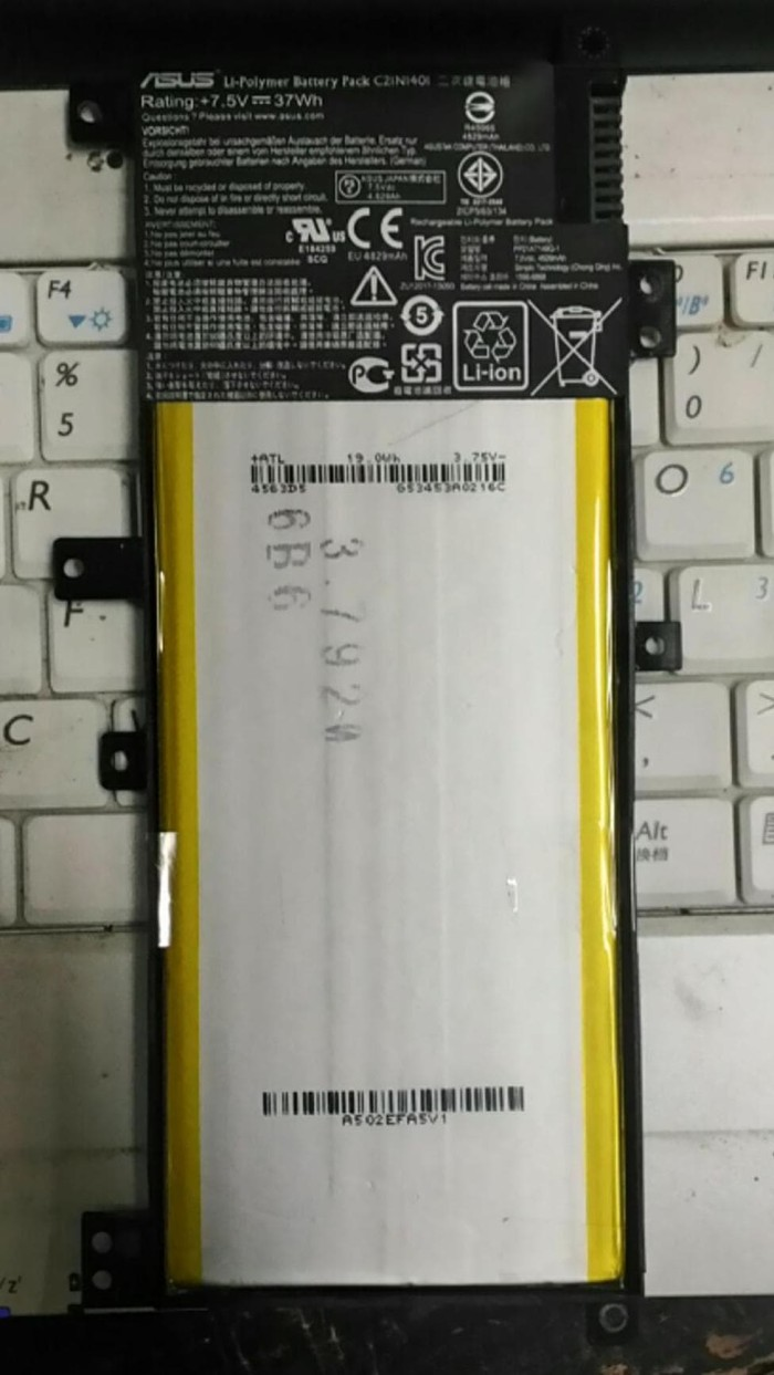 Harga Baterai Asus X455l X455 X455la X455lb X455ld X455lj C21n1401 Touchpad X455lc X455lf Batre Battery A455l X454w