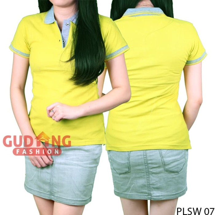 Kaos Polo Kerah Wanita – PLSW 07 - Hijau muda, S