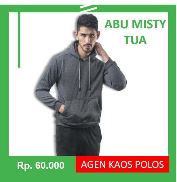 Jaket Sweater Polos Hoodie Jumper Abu Misty Tua - Navy, XL