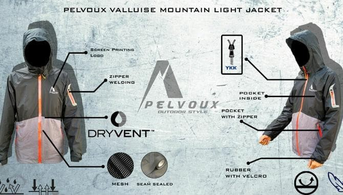 Jaket Gunung Waterproof Valluise Mountain Light Not Consina Rei