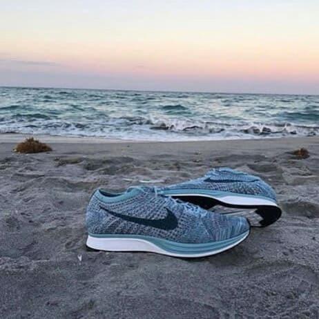 innovative design 2372e 9dbb4 sepatu sneakers nike flyknit racer macaron pack blueberry cewek 37-40