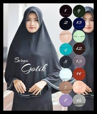 Paling Laris Jilbab/ Kerudung Besar Syari/ Bergo Jumbo Gotik 1