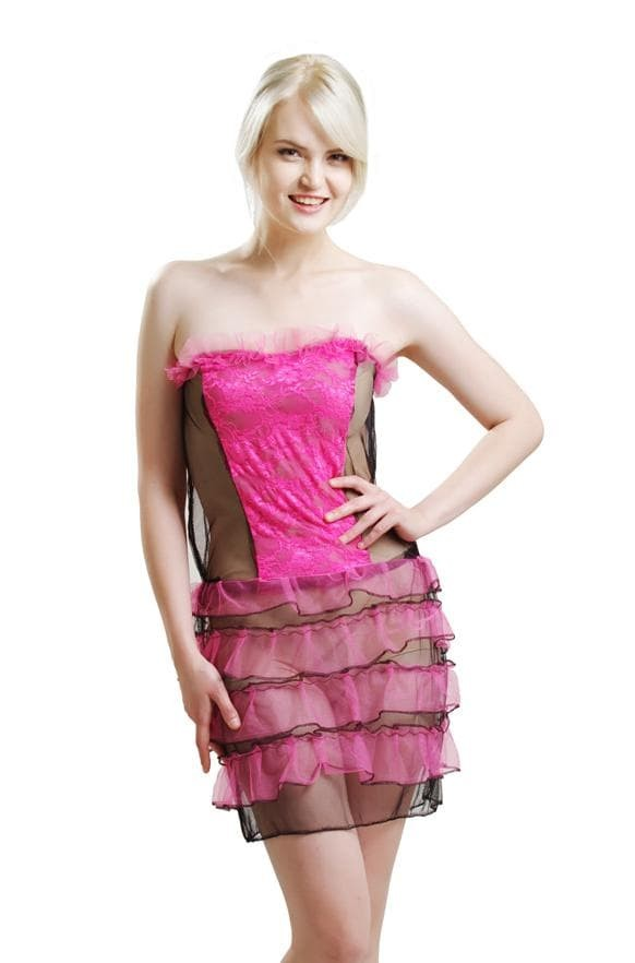 454618afc0ea7 Jual PROMO L-987 Sexy Black Pink Transparent Lingerie Dress - Valkstar Shop  | Tokopedia