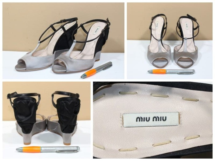 Jual Sepatu heels branded MIU MIU Made in ITALY original asli new ... 16435631ad