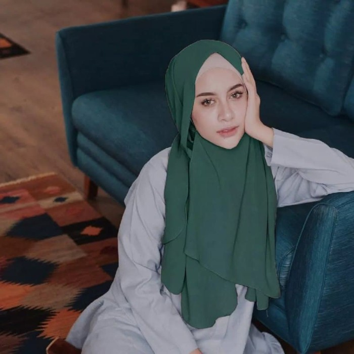 Cala Pastan EMERALD by Vanilla Hijab Jilbab Kerudung Pashmina Instan V