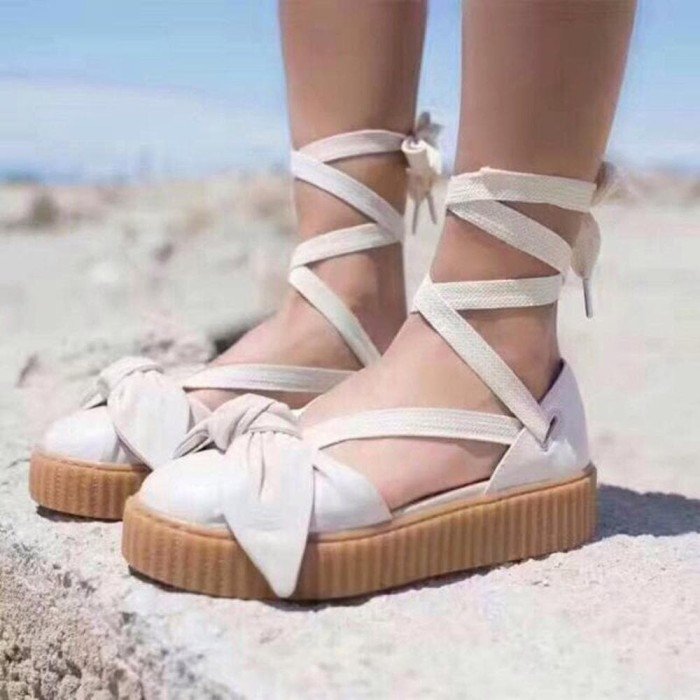 save off f6ac5 4339c Jual Sepatu Sandal Wanita PUMA FENTY BOW LACE CREEPERS WHITE Murah - Kota  Bandung - ADDICTED SHOPPING. | Tokopedia