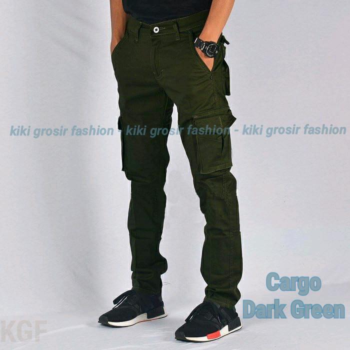 harga Celana kargo panjang hijau - cargo dark green - pdl - outdoor - chino Tokopedia.com