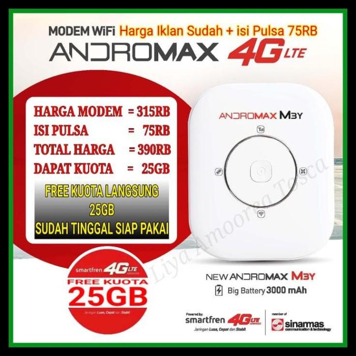 Modem Wifi Mifi Andromax M3Y & M3Z 4G Lte (Free Kuota 30 Gb) !!!