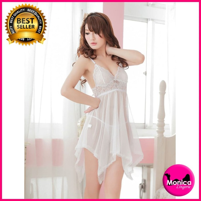 678b1f9c6ce8 Jual Sexy Lingerie Gaun Malam Transparan Nightwear Nightdress - Kota ...