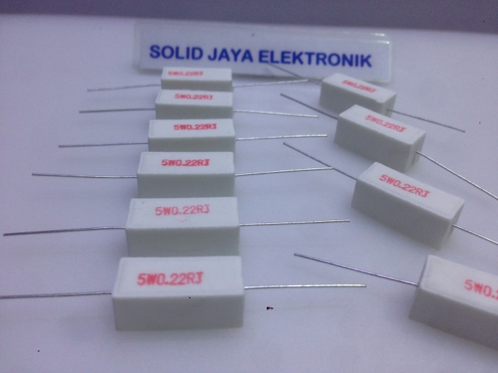 Foto Produk Resistor 0.22 ohm 5 Watt dari Solid Jaya Elektronik