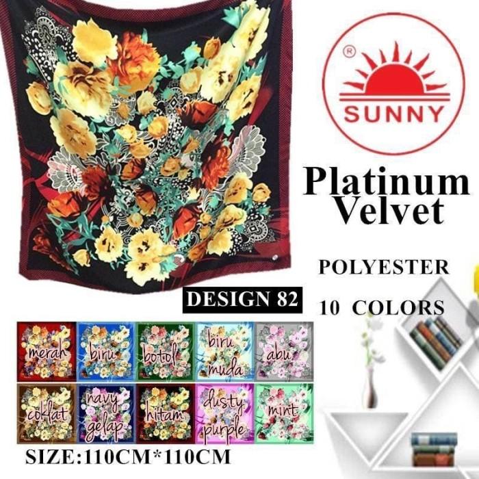 harga Jilbab segi empat satin velvet branded motif - seri : 82 Tokopedia.com