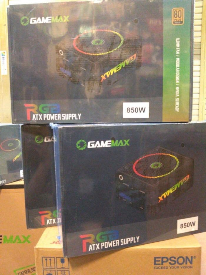 harga Gamemax psu gm 850rgb 850watt 85+ effeciency 85% gold 14cm fan Tokopedia.com