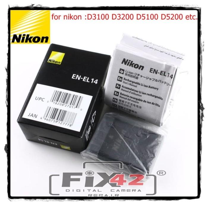 harga Baterai/battery nikon en-el14 for nikon d3100d3200d5100d5200 standart. Tokopedia.com
