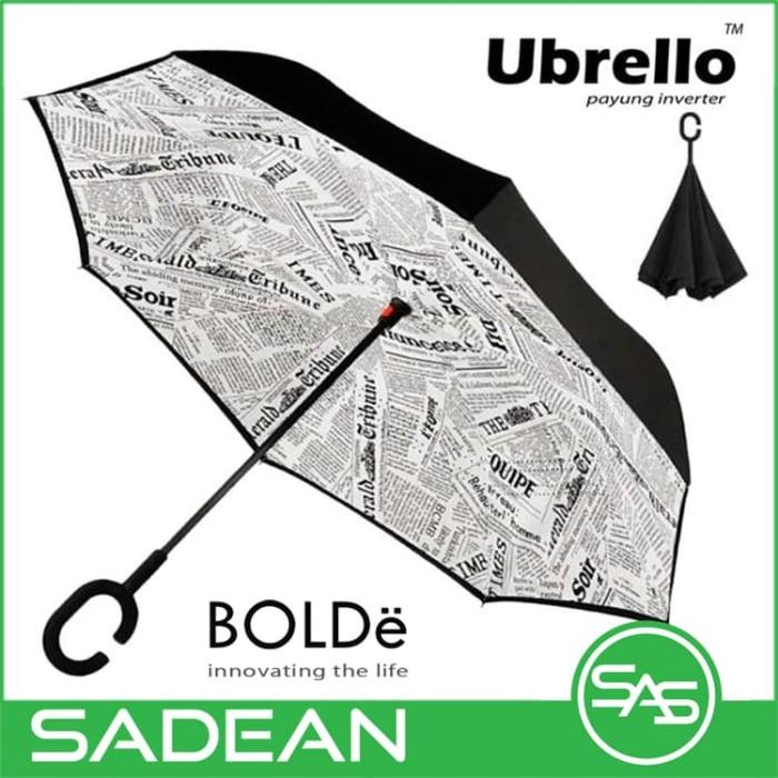 harga Bolde ubrello inverter umbrella - payung terbalik motif koran Tokopedia.com