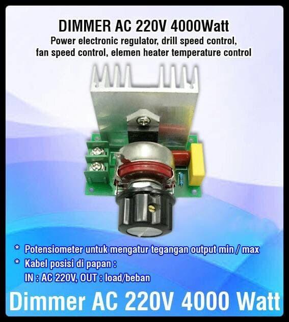 harga Dimmer speed rpm motor ac 220 volt 4000 watt ( non casing ) Tokopedia.com