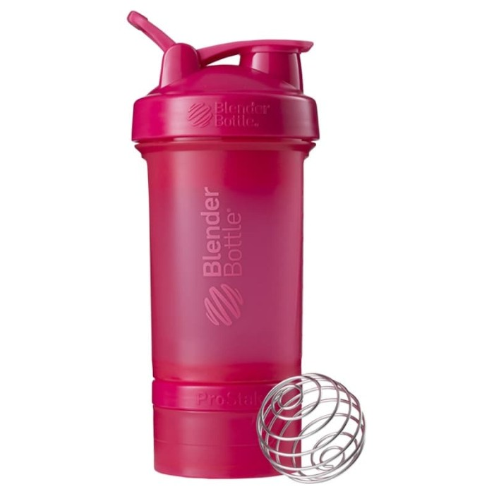 Blender bottle prostak smart shaker gym fitness botol pink