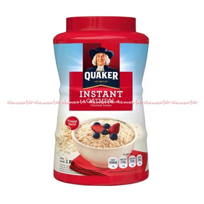 Quaker Instant Kaleng 1 Kg Merah oatmeal utuh menurunkan kolesterol