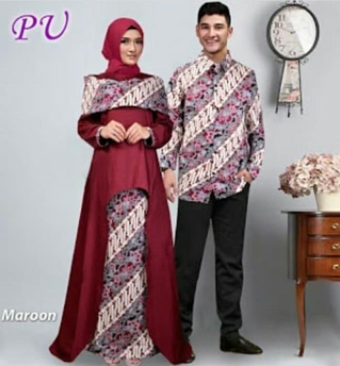 Jual Couple Sabna Batik Muslim Pesta Baju Oriayt Murah Trendy. Model Baju  Batik Pesta Wanita Muslim Modern c0cbf0abee