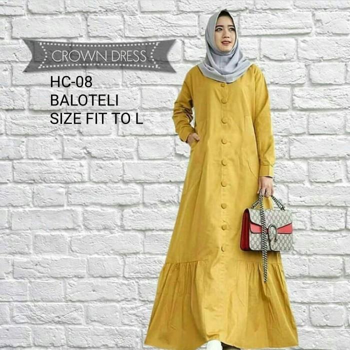 Jual Crown Maxi Dress Gamis Wanita Baju Muslim Murah - Modalita Shop ... 094b9e3f18
