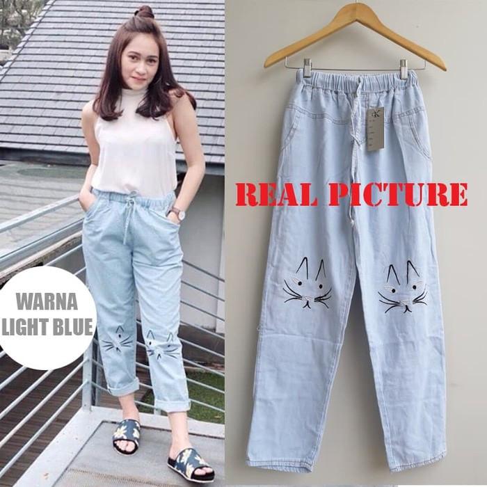 Jual Meow Pants Celana Jeans Celana Wanita Kekinian Kota Surakarta Ayumna Id Tokopedia