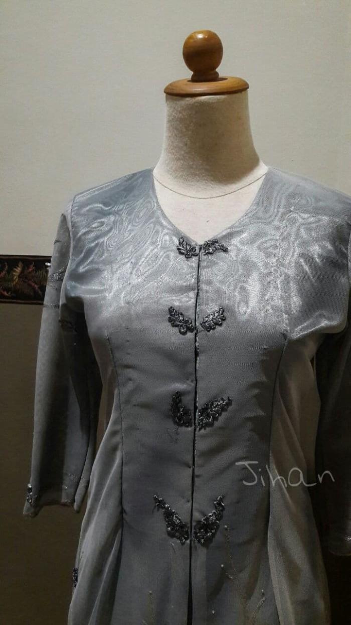 Jual Baju Pesta Model Malaysian Dress Abu Abu M Kota Denpasar Momji S Shop