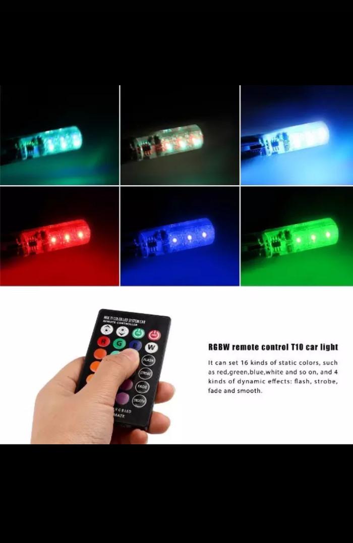 harga Lampu warna warni led untuk mobil dan motor anda t10 Tokopedia.com