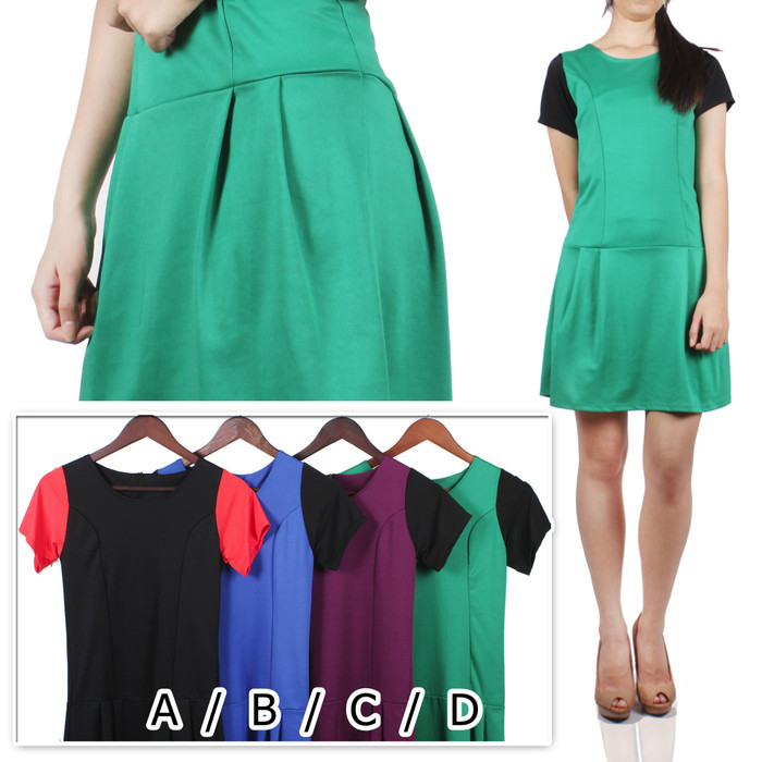 harga Chelsy dress / terusan wedges midi casual Tokopedia.com