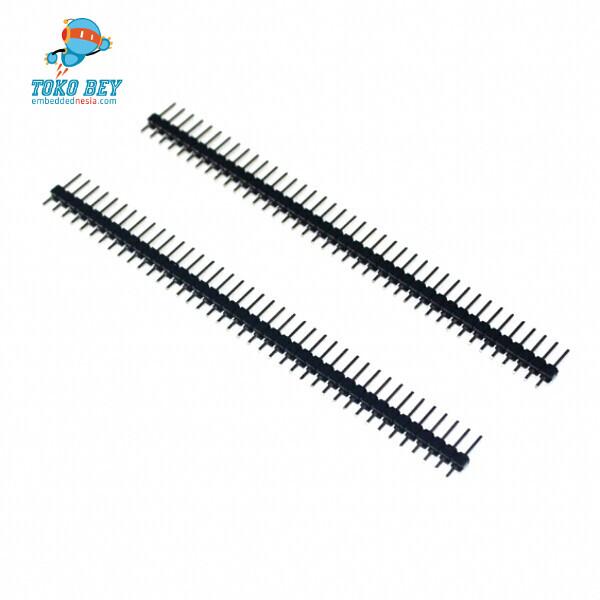 Foto Produk Single Row Male 1X40 Pin Header Strip / Tulang Ikan / pin deret dari TOKO BEY