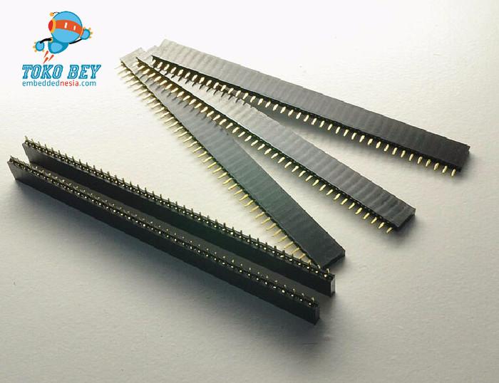 Foto Produk 2.54mm Single Row Female Pin header 40 pin dari TOKO BEY