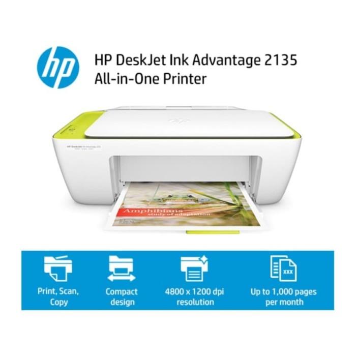 HP Deskjet Ink Advantage 2135 All-in-One printer -Putih