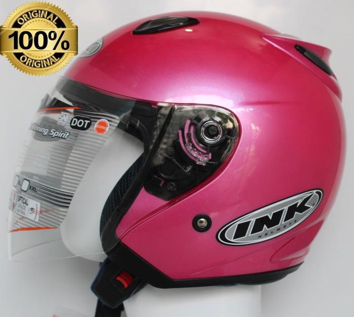 harga Helm ink centro jet solid pink metalic original Tokopedia.com