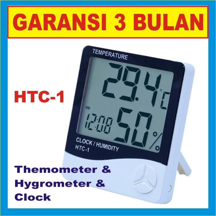harga Temperature / temperatur digital & hygrometer / humidity meter htc-1 Tokopedia.com