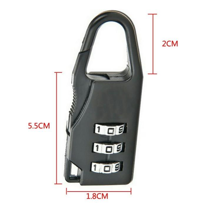 GEMBOK PASSWORD ANGKA / NOMOR / PIN KOMBINASI untuk Tas Koper mini .